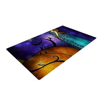 Mandie Manzano Cinderella Orange/Purple Area Rug Rug Size: 4 x 6