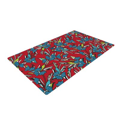 Michelle Drew Paper Leaf Red Area Rug Rug Size: 4 x 6