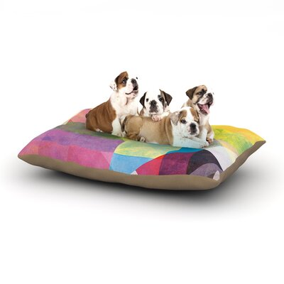 Mareike Boehmer Color Blocking II Abstract Dog Pillow with Fleece Cozy Top Size: Small (40 W x 30 D x 8 H)