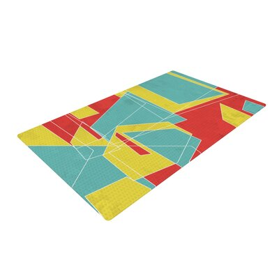 MaJoBV Cartagena Balconies Teal/Yellow Area Rug Rug Size: 2 x 3