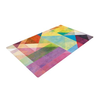 Mareike Boehmer Color Blocking II Abstract Rainbow Area Rug Rug Size: 4 x 6