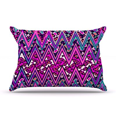 Pink Electric Chevron by Nika Martinez Featherweight Pillow Sham Size: Queen, Fabric: Woven Polyester