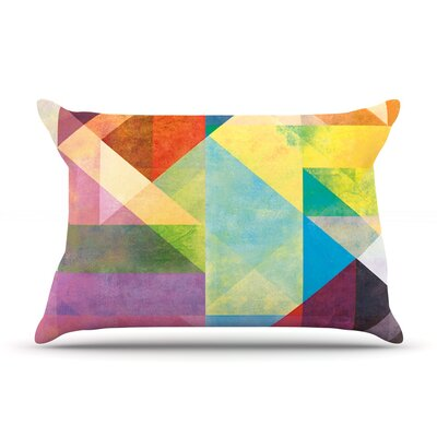 Color Blocking II by Mareike Boehmer Featherweight Pillow Sham Size: Queen, Fabric: Woven Polyester