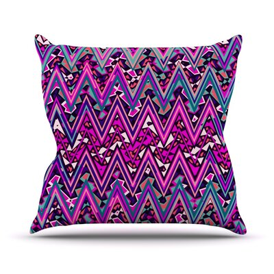 Electric Chevron Throw Pillow Size: 16 H x 16 W, Color: Pink