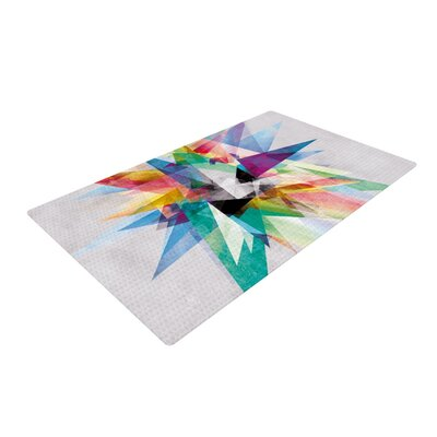 Colorful Rainbow Abstract Area Rug Rug Size: 2 x 3
