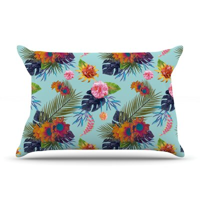 Tropical Floral Pillow Case Size: King