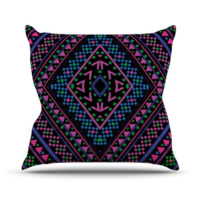 Neon Pattern Throw Pillow Size: 18 H x 18 W