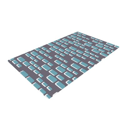 Michelle Drew Cubic Geek Chic Gray Area Rug Rug Size: 2 x 3