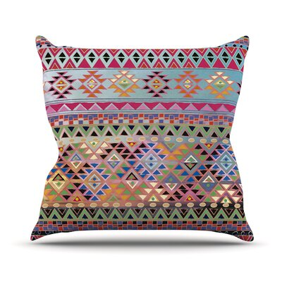 Tribal Native Throw Pillow Size: 18