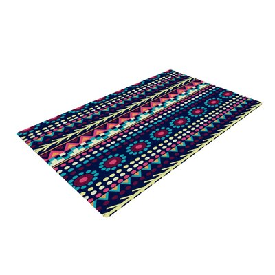 Nika Martinez Aiyana Blue/Red Area Rug Rug Size: 4 x 6