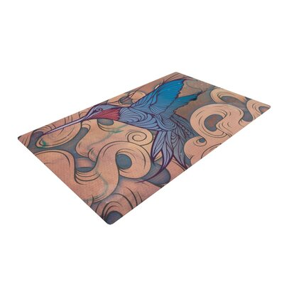 Mat Miller the Aerialist Blue Area Rug Rug Size: 2 x 3