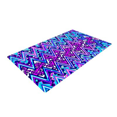 Electric Blue Chevron Area Rug Rug Size: 4 x 6