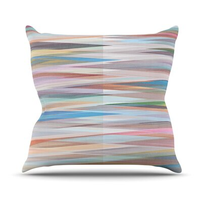 Nordic Combination II by Mareike Boehmer Rainbow Abstract Throw Pillow Size: 18 H x 18 W x 3 D