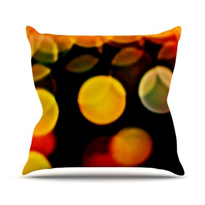 Lights Throw Pillow Size: 18 H x 18 W