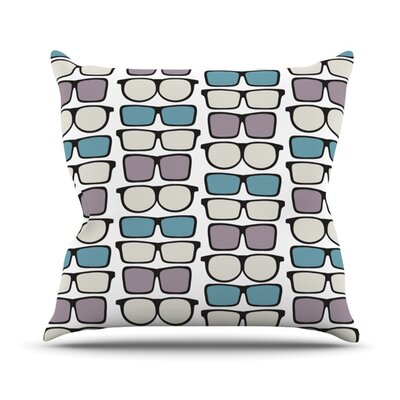 Spectacles Geek Chic Throw Pillow Size: 26 H x 26 W