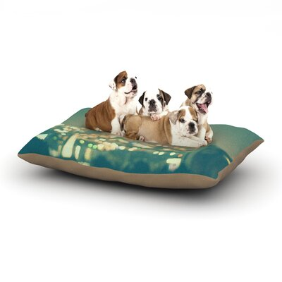 Myan Soffia Anniversary City Lights Dog Pillow with Fleece Cozy Top Size: Small (40 W x 30 D x 8 H)