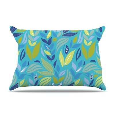 Underwater Bouquet Night by Michelle Drew Featherweight Pillow Sham Size: Queen, Color: Blue, Fabric: Woven Polyester