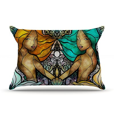 Mermaid Twins Pillow Case Size: King