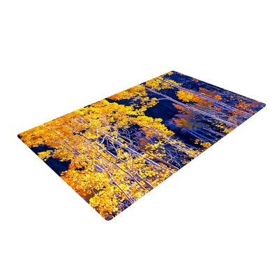 Trees Yellow/Blue Novelty Rug Rug Size: 4 x 6