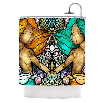 Mermaid Twins Shower Curtain