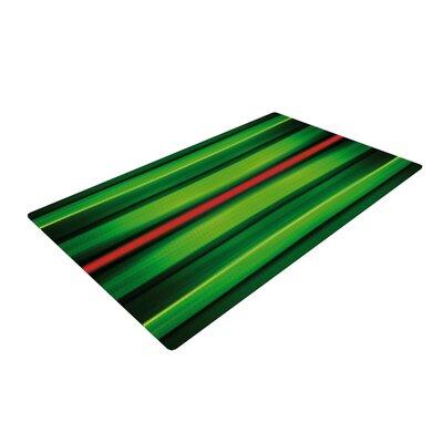 Matthias Hennig Stripes Green Area Rug Rug Size: 4 x 6