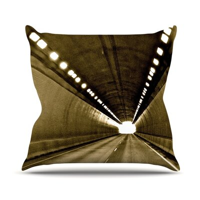 Tunnel Throw Pillow Size: 16 H x 16 W