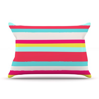 Girly Surf Stripes by Nika Martinez Featherweight Pillow Sham Size: King, Fabric: Woven Polyester