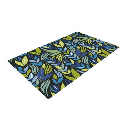 Michelle Drew Underwater Bouquet Night Green Area Rug Rug Size: 2 x 3