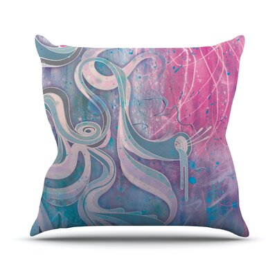 Throw Pillow Size: 16 H x 16 W, Color: Electric Dreams
