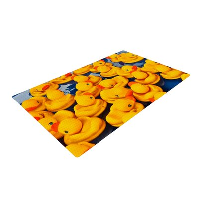 Maynard Logan Duckies Yellow Area Rug Rug Size: 4 x 6