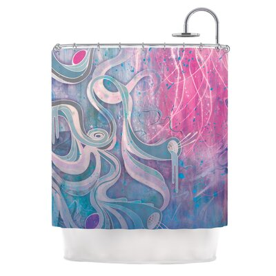 Shower Curtain Color: Electric Dreams