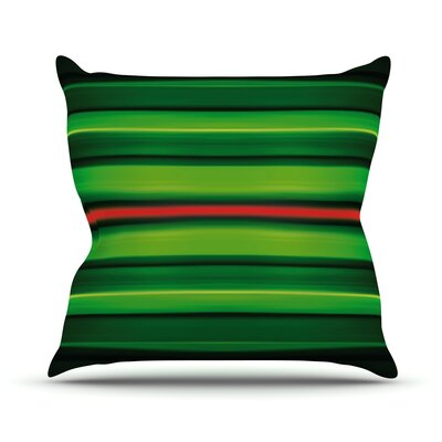 Stripes Throw Pillow Size: 18 H x 18 W