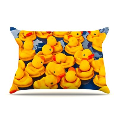Duckies by Maynard Logan Featherweight Pillow Sham Size: Queen, Fabric: Woven Polyester