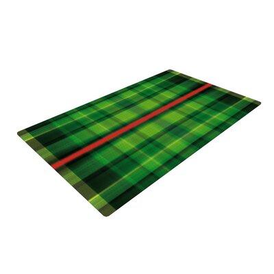 Matthias Hennig Tartan Green Area Rug Rug Size: 2 x 3