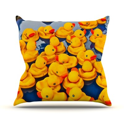 Duckies Throw Pillow Size: 18 H x 18 W