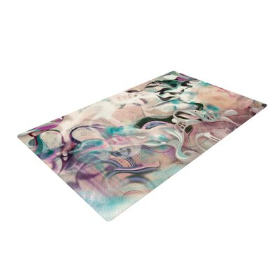 Mat Miller Fluidity White/Purple Area Rug Rug Size: 2 x 3