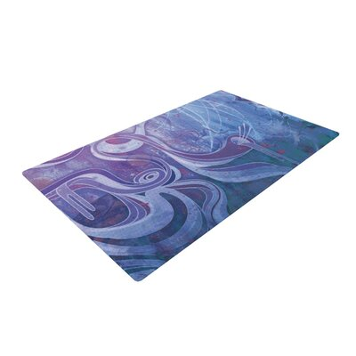 Mat Miller Electric Dreams II Blue/Pink Area Rug