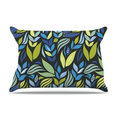 Underwater Bouquet Night by Michelle Drew Featherweight Pillow Sham Size: Queen, Color: Black, Fabric: Woven Polyester