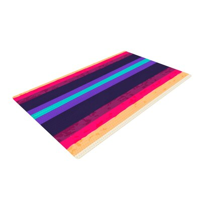 Nika Martinez Surf Stripes Purple/Red Area Rug Rug Size: 4 x 6