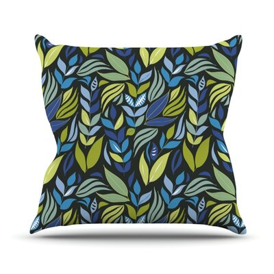 Underwater Bouquet Night Throw Pillow Size: 16 H x 16 W