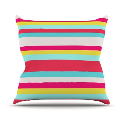 Throw Pillow Size: 18 H x 18 W, Color: Girly Surf Stripes