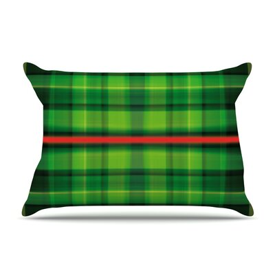 Tartan by Matthias Hennig Featherweight Pillow Sham Size: King, Fabric: Woven Polyester