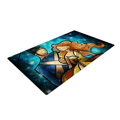 Mandie Manzano Nutcracker Blue/Yellow Area Rug Rug Size: 2 x 3