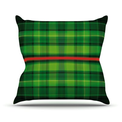 Tartan by Matthias Hennig Throw Pillow Size: 18 H x 18 W x 3 D