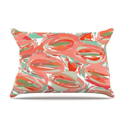 Go Left Red by Matthias Hennig Featherweight Pillow Sham Size: Queen, Fabric: Woven Polyester