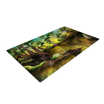 Mandie Manzano Alligator Swamp Yellow/Brown Area Rug Rug Size: 4 x 6