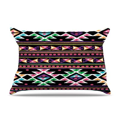 Black Aylen by Nika Martinez Featherweight Pillow Sham Size: Queen, Fabric: Woven Polyester
