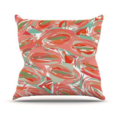 Throw Pillow Size: 18 H x 18 W, Color: Go Left Red