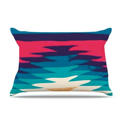 Surf by Nika Martinez Featherweight Pillow Sham Size: King, Fabric: Woven Polyester
