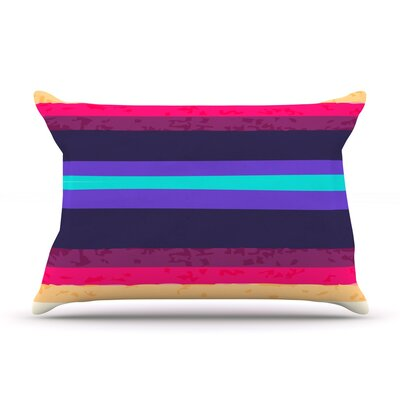 Surf Stripes by Nika Martinez Featherweight Pillow Sham Size: Queen, Fabric: Woven Polyester